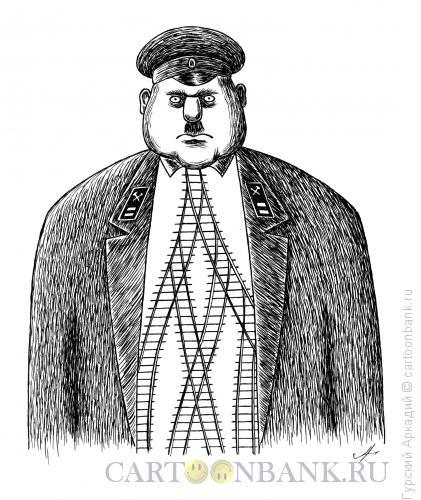 Карикатура: галстук из рельс, Гурский Аркадий