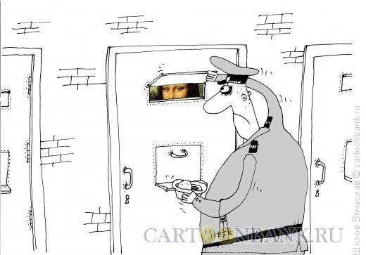 Карикатура: Глаза Джоконды, Шилов Вячеслав