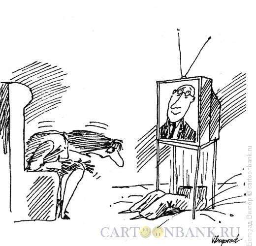 Карикатура: Случай с ведущим, Богорад Виктор