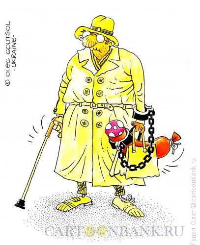 Карикатура: Фельдегерь на пенсии, Гуцол Олег