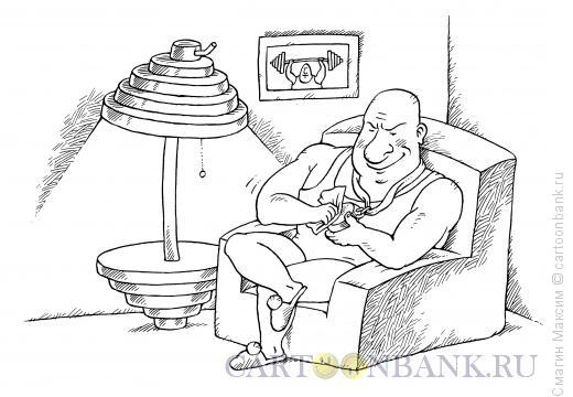 Карикатура: Штанга - торшер, Смагин Максим