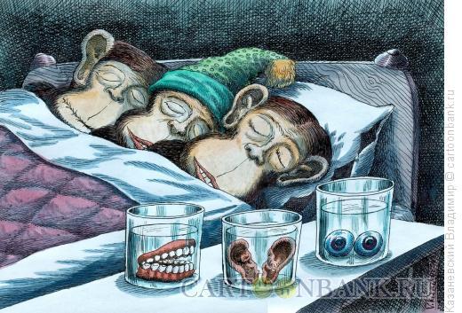 Карикатура: Три обезьяны, Казаневский Владимир