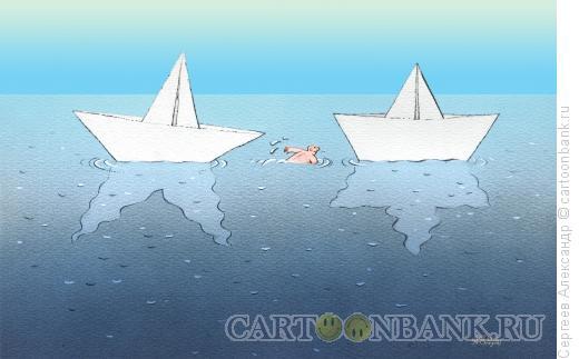 Карикатура: Две звезды, Сергеев Александр