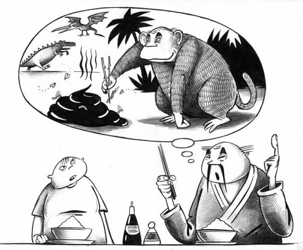 Карикатура: Палочки, Сергей Корсун