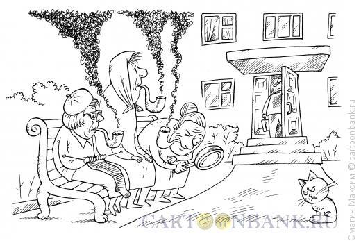 Карикатура: Бабушки-детективы, Смагин Максим