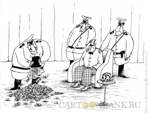 Карикатура: Арест фокусника, Шилов Вячеслав