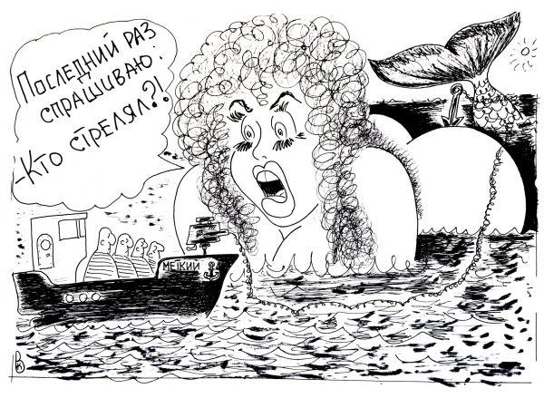 Карикатура: А в ответ тишина..., Валерий Каненков