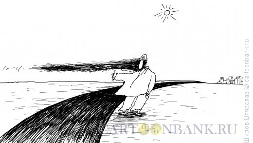 """Карикатура: """"Голосует"""" бородой, Шилов Вячеслав"""