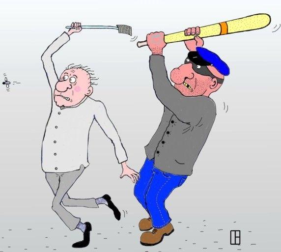 Карикатура: Убийцы, Олег Тамбовцев