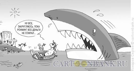 Карикатура: хищный роуминг, Кокарев Сергей