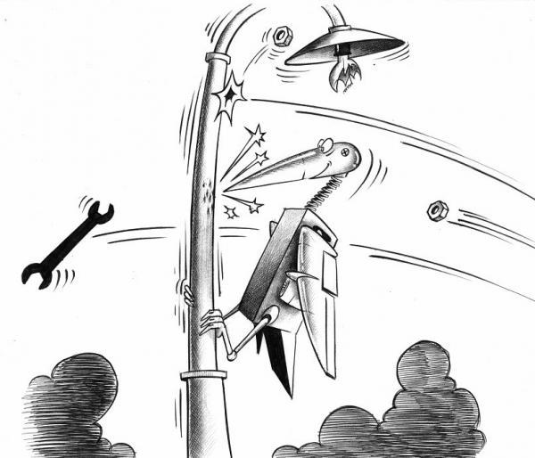Карикатура: Дятлодрон, Сергей Корсун