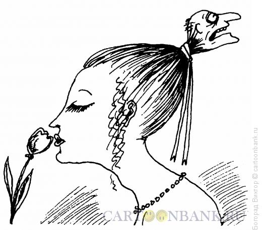 Карикатура: Девушка и старик, Богорад Виктор