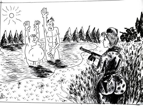 Карикатура: Хенде хох, Валерий Каненков