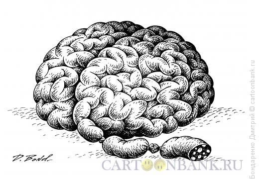 Карикатура: Мысли о хлебе насущном (ч/б), Бондаренко Дмитрий