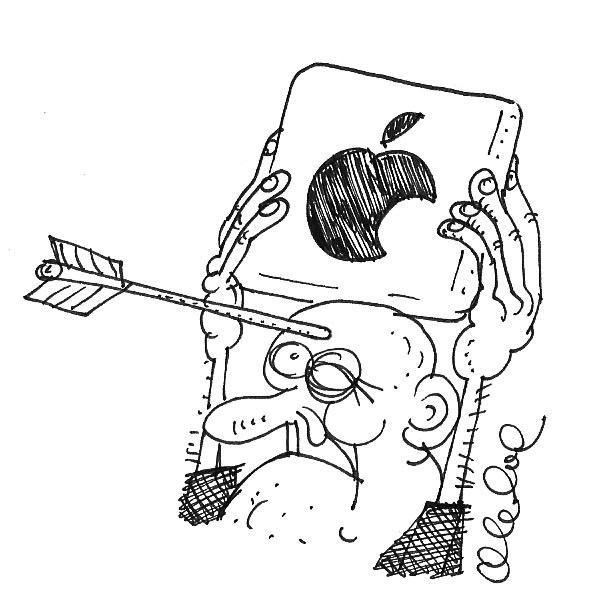 Карикатура: Вильгельм Телль, Олег Горбачев