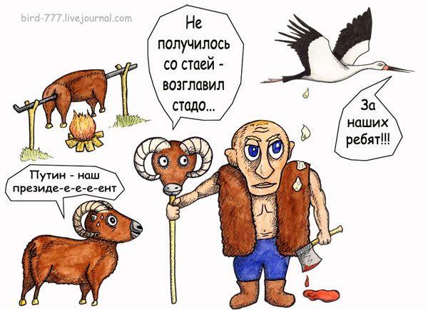 Карикатура: Вожак, Птица Счастья