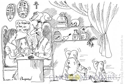 Карикатура: У мага, Богорад Виктор