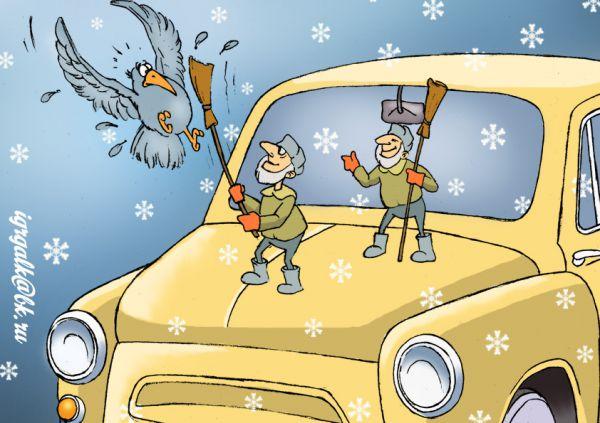 Карикатура: дворники