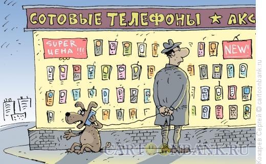 Карикатура: всегда на связи, Кокарев Сергей