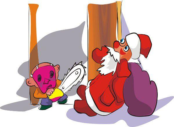 Карикатура: Дед Мороз