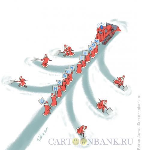 Карикатура: Синее ведёрко, Батов Антон