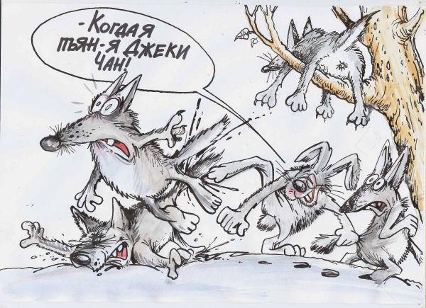 Карикатура: Заяц во хмелю!, Бауржан Избасаров