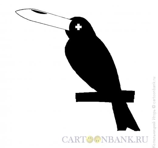 Карикатура: Клюв птицы, Копельницкий Игорь