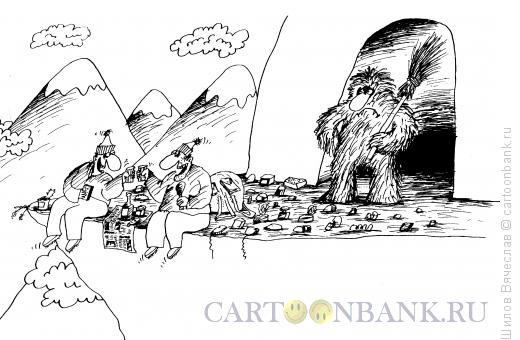 Карикатура: Йети-дворник, Шилов Вячеслав