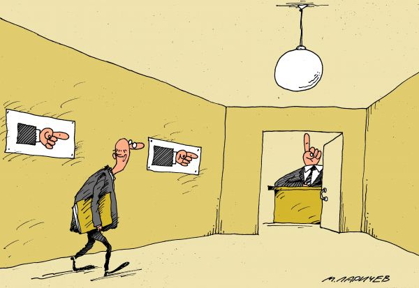 Карикатура: перст, михаил ларичев