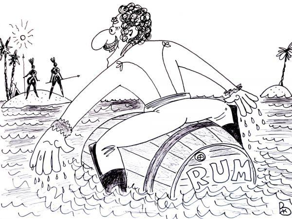 Карикатура: Чудо остров, Валерий Каненков