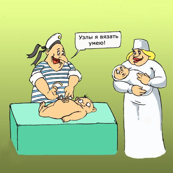 Карикатура: узлы