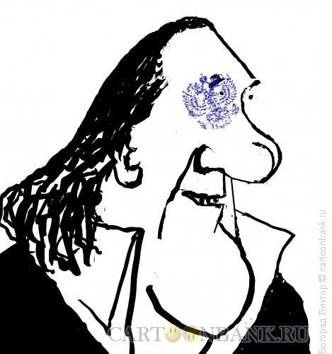 Карикатура: Жерар Депардье, Богорад Виктор