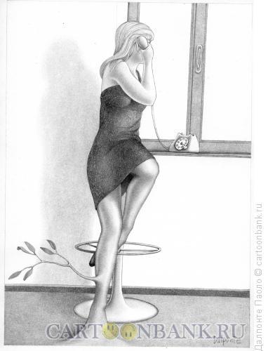 Карикатура: Телефонный разговор, Далпонте Паоло