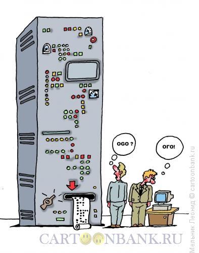 Карикатура: Вот это техника!, Мельник Леонид