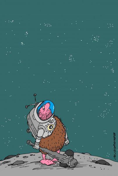 Карикатура: добро пожаловать на Землю!, михаил ларичев