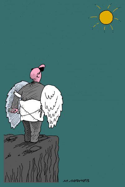 Карикатура: к солнцу, михаил ларичев