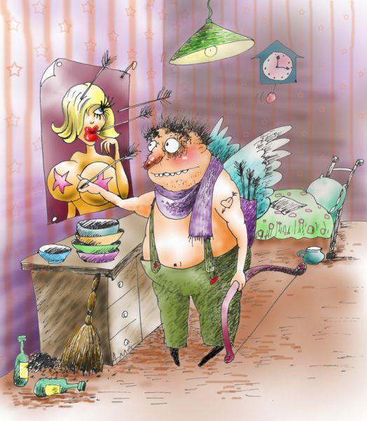 Карикатура: одиночество, Алла Сердюкова