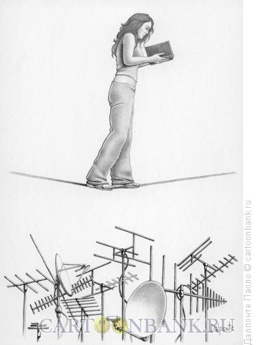 Карикатура: читатель, Далпонте Паоло