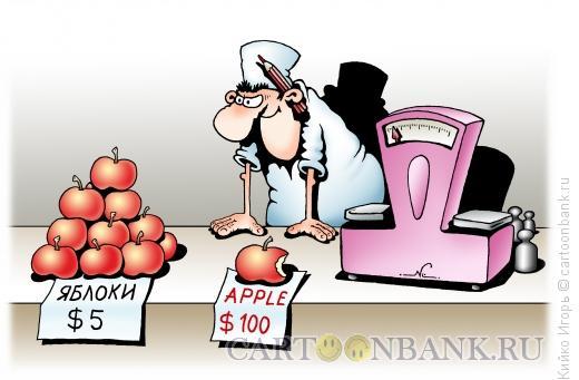 Карикатура: Цена за бренд, Кийко Игорь