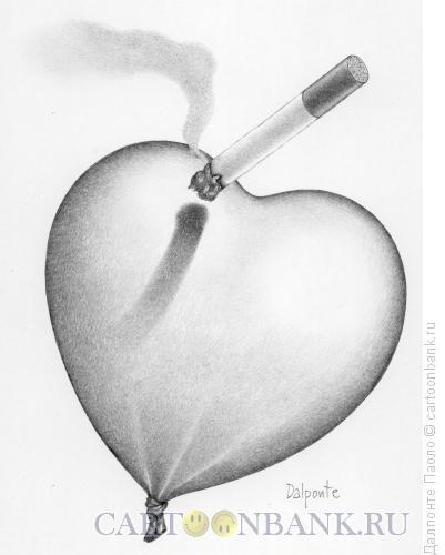 Карикатура: Сигарета и сердце, Далпонте Паоло