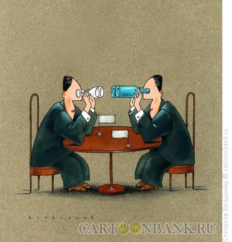 Карикатура: Поиск взаимопонимания, Степанов Владимир
