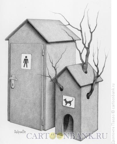 Карикатура: toilet for dogs, Далпонте Паоло