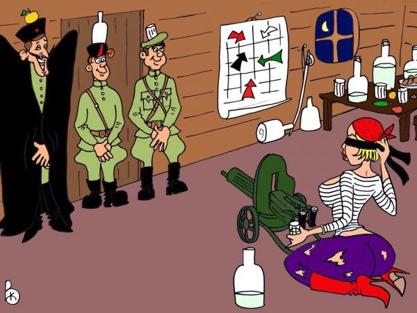 Карикатура: На спор, Валерий Каненков