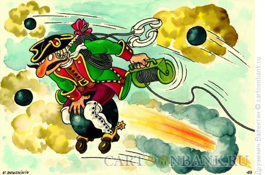 Карикатура: Связист, Дружинин Валентин