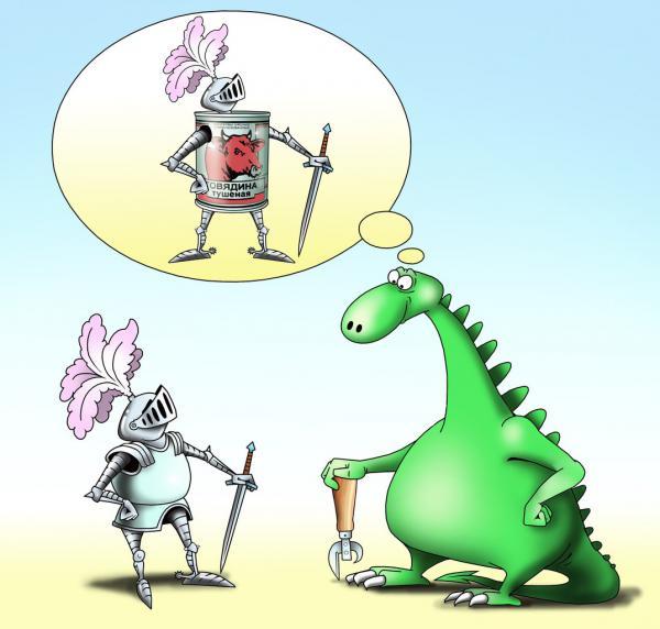 Карикатура: Консервы, Сергей Корсун