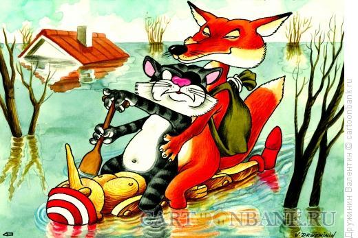 Карикатура: На Буратино, Дружинин Валентин