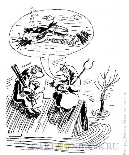 Карикатура: Подводный вор, Богорад Виктор