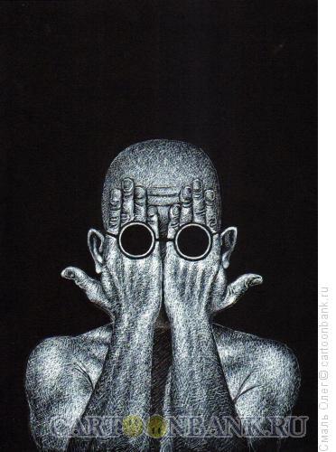 Карикатура: Слепец, Смаль Олег