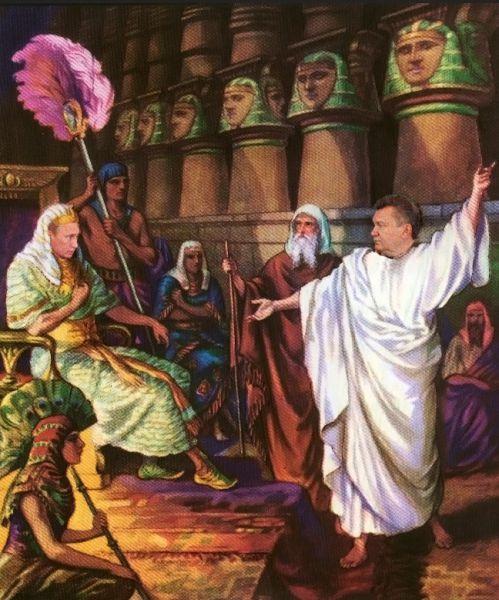 Карикатура: Фараон, отпусти мой народ в страну обетованную!, AlexPolenensky