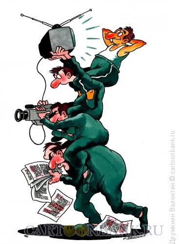 Карикатура: Телепирамида, Дружинин Валентин